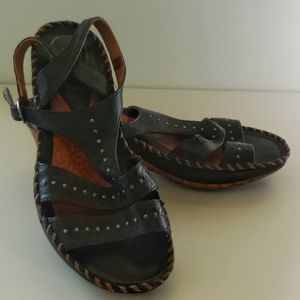 Ariat Leather Gladiator Wedge Sandals - Size 8B